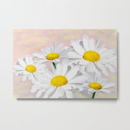 Dreaming of White Daisy Flowers Metal Print