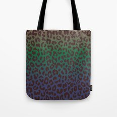 LEOPARD hue-TAUPE GREEN BLUE Tote Bag