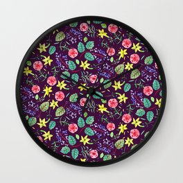 Etno flowers Wall Clock