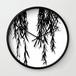willow bw Wall Clock
