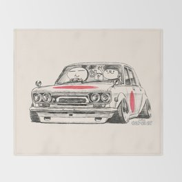 Crazy Car Art 0173 Throw Blanket