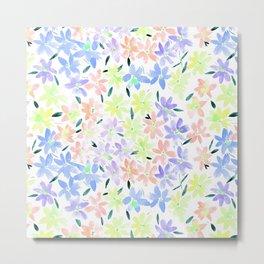 Tender meadow - watercolor pastel florals Metal Print