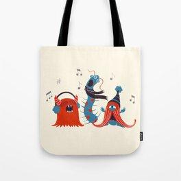 Three Monsters Singing Tote Bag