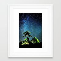 "night sky Framed Art Prints featuring NigHt SkY  by ""CVogiatzi."