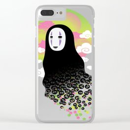 No Face and Soot Sprites Clear iPhone Case