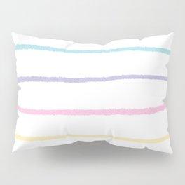 Pastel colors lines pattern Pillow Sham