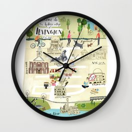 Irvington NY Map Wall Clock