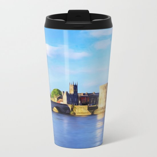 King Johns Castle and Thomond Bridge Metal Travel Mug