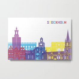 Stockholm skyline pop Metal Print