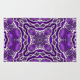 abstract jewel purple Rug