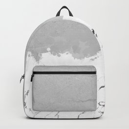 White marble spill on concrete Backpack