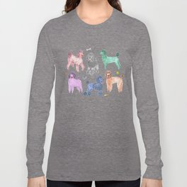 Poodles by Veronique de Jong Long Sleeve T-shirt