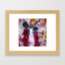 Fierce Fire Femme Framed Art Print