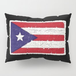 Puerto Rican flag with distressed textures Pillow Sham
