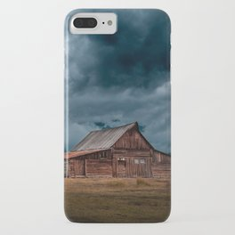 Log Cabin Barn Rural Landscape iPhone Case