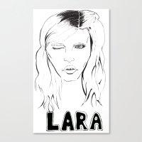 megan lara Canvas Prints featuring Lara by Lacee Swan