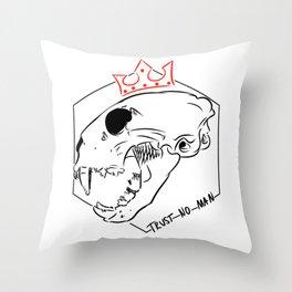 Trust No Man Throw Pillow