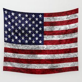 USA Grunge Flag Wall Tapestry
