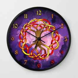World Tree (Yggdrasil) Autumn Knot Wall Clock