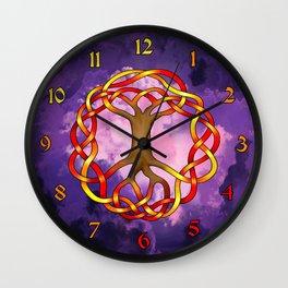 World Tree (Yggdrasil) Autumn Knot Wall Clock