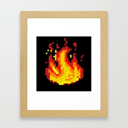 Pixel fire Framed Art Print