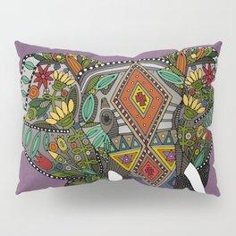 floral elephant violet Pillow Sham