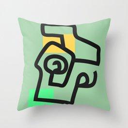 absurd green Throw Pillow