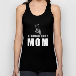 African Grey Mom Unisex Tank Top