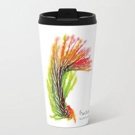 Tillandsia Funckiana Air Plant Watercolors Travel Mug