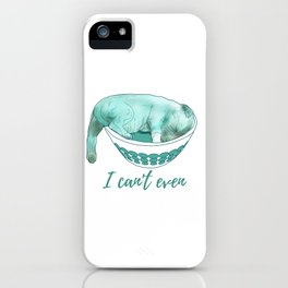 Dog in bowl iPhone Case