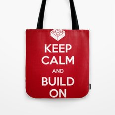 Keep Calm and Build On Tote Bag
