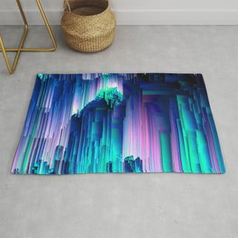 Glitches Be Trippin' - Abstract Pixel Art Rug