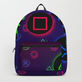 Let's Play! Neon PS4 Controller Buttons Backpack
