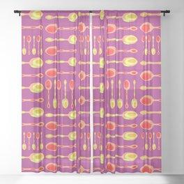 Unique Artsy Spoons! (Warm Colors) Sheer Curtain