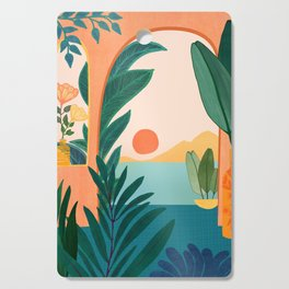 Tropical Evening Cutting Board