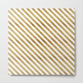 Golden Stripes Metal Print