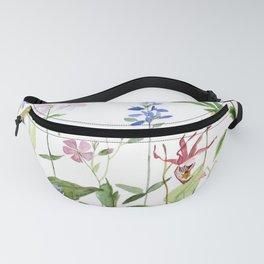 Botanical Garden Flower Wildflower Watercolor Art Fanny Pack
