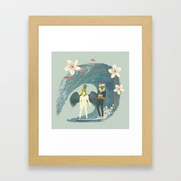 Surf like a Boss Framed Art Print