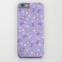 Menhera Needles on Purple iPhone Case