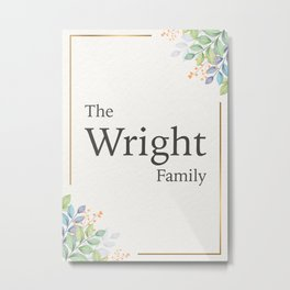 The Wright Family Metal Print