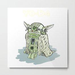 Y0-D4 Droid Metal Print