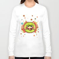 kiwi Long Sleeve T-shirts featuring KIWI by Lihi Ascher Abraham