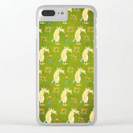 Flowers & Unicorns Clear iPhone Case