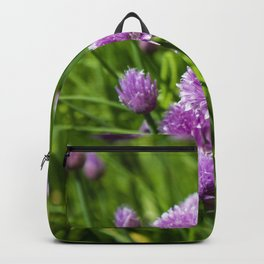 chive flowers Backpack