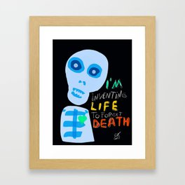Street Art Graffiti Inventing Life Framed Art Print