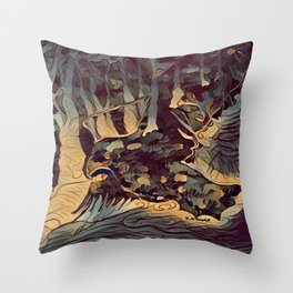 """ The Hunt "" Throw Pillow"