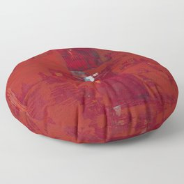 Red Solomon Floor Pillow