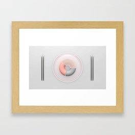 Hairy donut and sticks Framed Art Print