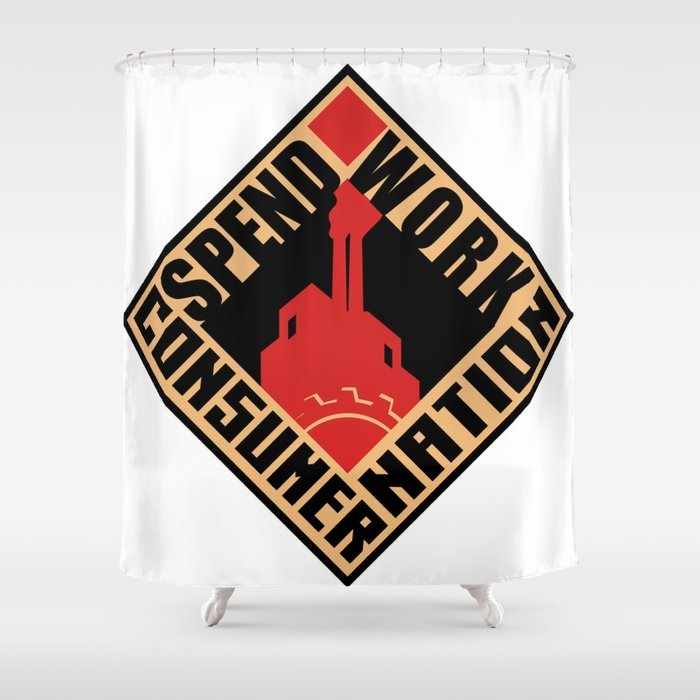Consumer Nation Shower Curtain