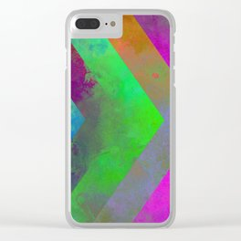Textured Direction - Abstract, multi coloured, geometric painting Clear iPhone Case